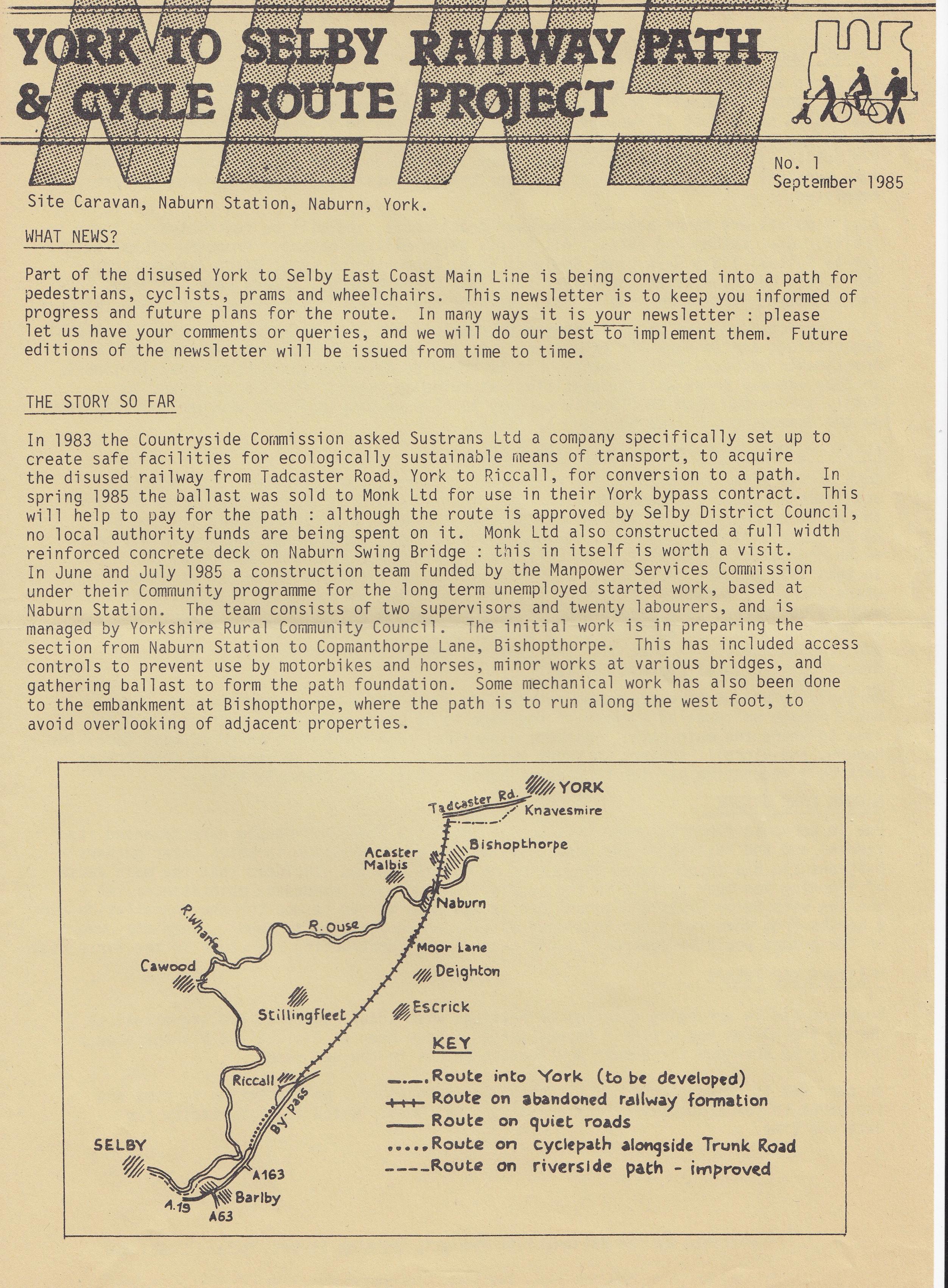 September 1985 Newsletter