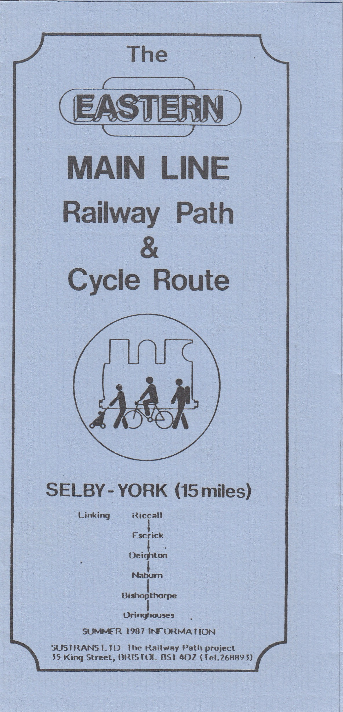 Eastern Main Line Railway Path & Cycle Route